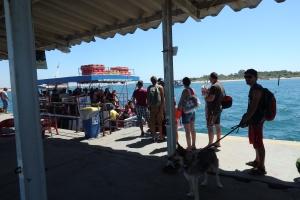 Ferry hacia la Ilha de Tavira