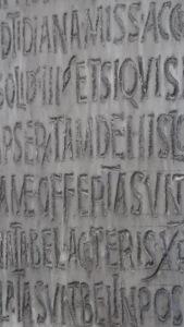 Inscripción en la entrada de Santa Maria in Cosmedín