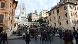La escalinata de Piazza Spanga