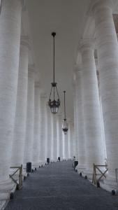 La columnata de Bernini desde dentro...