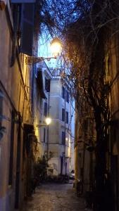 Típica calle del Trastevere