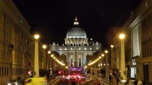 La Basílica de San Pedro desde el Castillo de Sant'Angelo