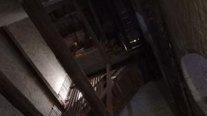 Escaleras de subida a la torre