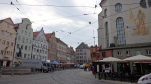 Calles de Augsburgo camino de Rathausplatz