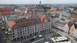Vista de pajaro de la Rathausplatz