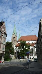 Las torres de la catedral de Augsburgo