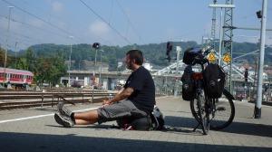 Esperando el segundo tren en Ulm