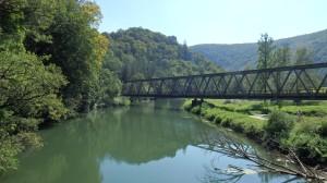 Puente Ferroviario cruzando el Danubio..