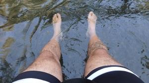 Relajando las piernas...