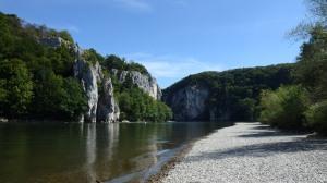 En este punto el Danubio se convierte en cañón...