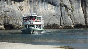 Y aquí mi ferry casi le pasa por encima a un tarao que estaba nadando