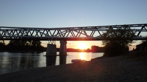 Atardecer en el Danubio