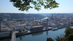 Passau desde lo alto de la Veste Oberhaus