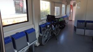 En el tren ya de vuelta a Munich