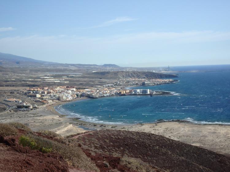 La playa de El Médano desde arriba..