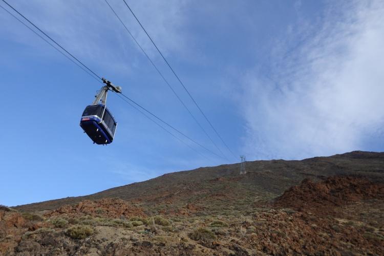 El Teleférico hacia el Teide...